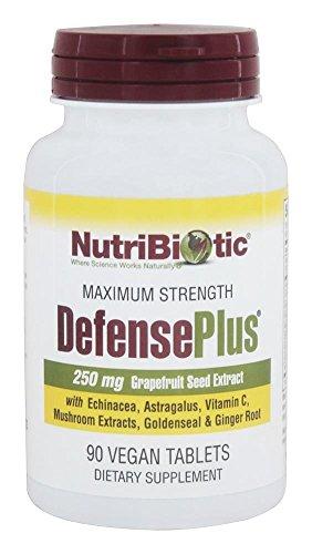 DefensePlus, 250 mg de extracto de semilla de pomelo, 90 Vegan Tablets - NutriBiotic