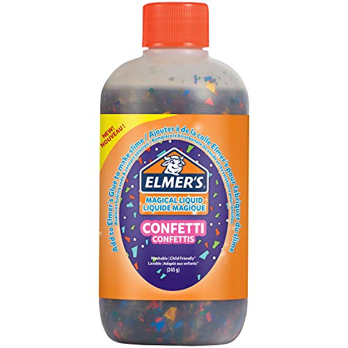 Elmer's Confetti Slime Activator | Magical Liquid Glue Slime Activator | 245 g Bottle | Great for Making Confetti Slime