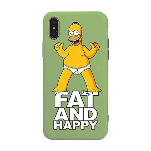 LKJHG Cartoon Cute Simpson Stitch Funda para teléfono móvil Soft Silicone Soft TPU Funda Protectora para iPhone 7 8 1