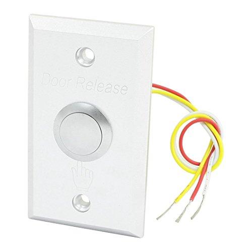 Interruptor de botón pulsador de acero inoxidable con liberación de salida de...