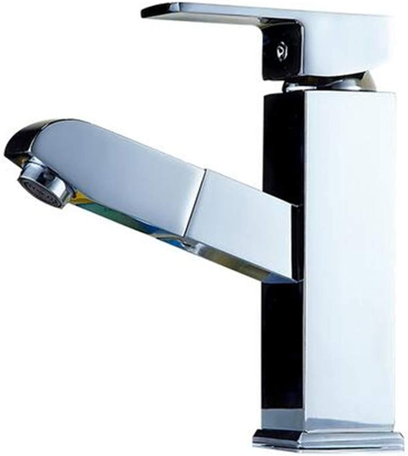 Basin Faucet Bathroom Sink Faucet ??Faucet Bathroom Single Handle Hot and Cold One Hole Classic Brushed