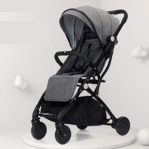 Read About KHUY Luxury Cotton and Linen Look Doll Pram with Swiveling Wheels & Adjustable Handle and...