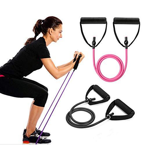 Acici Fitness Juego de bandas de resistencia, bandas elásticas para entrenamiento de ejercicio, tubo de cuerda expandible, equipo de ejercicio para el hogar, yoga, pilates YR23