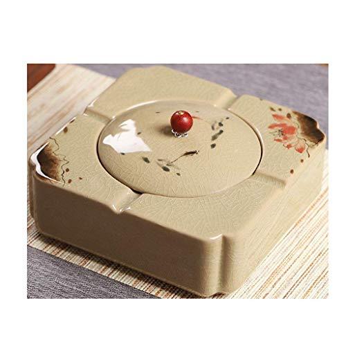 KEWEI Ashtray, Ashtray, Creative Ceramic Ashtray for the Home Office with lid ashtray
