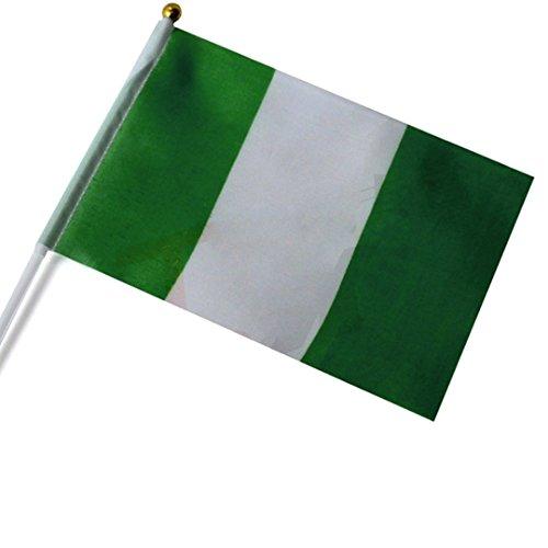 Dojore Kleine Nigeria-Handflagge – Afrika Land Spiel Fan Auto Reise Banner