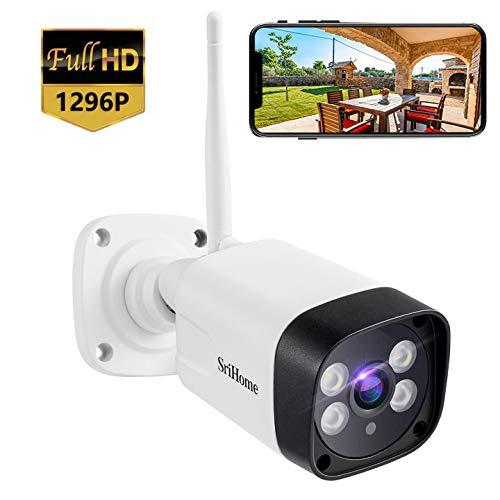 1296P Telecamera WiFi per esterni, Telecamera di sorveglianza SH035, Rilevamento del movimento, Visione notturna a colori, Impermeabile IP66, audio bidirezionale, Applicabile a PC Android iOS