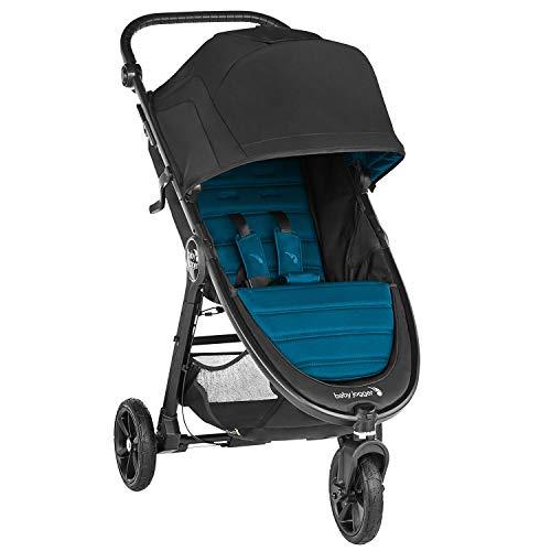 Baby Jogger City Mini GT2 poussette tout-terrain légère, pliage rapide à une main, mystique (noir/turquoise)