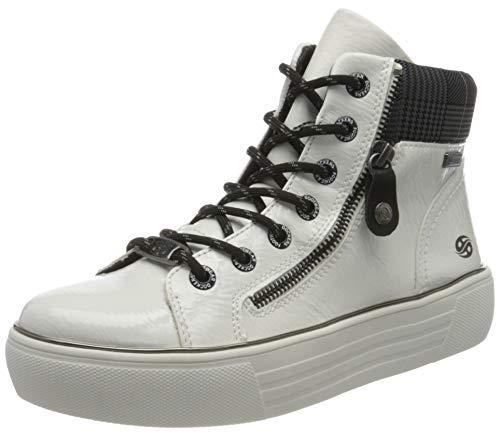 Dockers by Gerli Women's Low-Top Sneakers, Weiss Multi, 9.5 us
