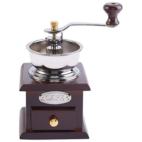 Macinacaffè Manuale, Design retrò Macinacaffè Macinato a Mano Macchina per la Macinatura del caffè con Cassetto Strumento di Rettifica per Casa Cucina Ufficio