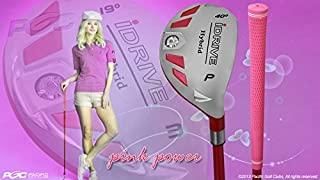 Integra Petite Women's iDrive Golf Club Hybrid Pitching Wedge (PW) Lady Flex Right Handed New Utility L Flex Club Perfect for Petite Shorter Women 4'10 to 5'3 Tall