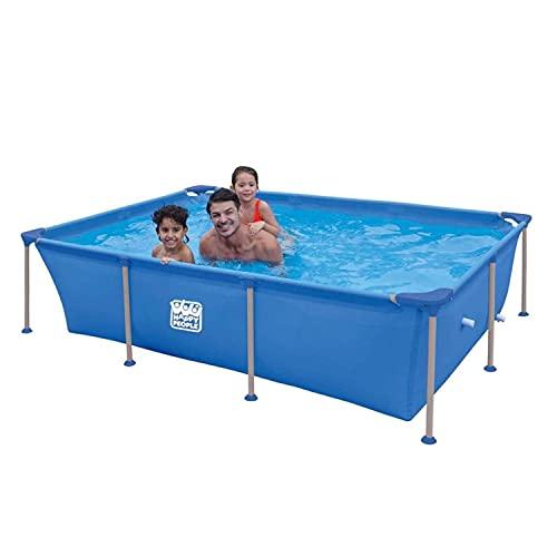 Happy People Wehncke - Frame Pool - Aufstellpool - rechteckig - 258 x 179 x 66 cm - blau - ohne Pumpe