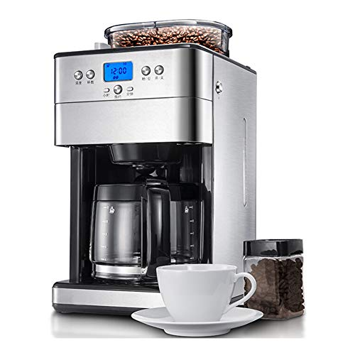 Domestic espresso machines,Coffee Maker Office Household Large-capacity Bean Powder Dual-purpose Grinding American Drip Full-automatic Coffee Machine 1.8L