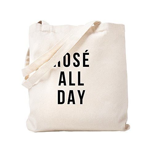 CafePress Rose All Day Natural Canvas Tote Bag, Reusable Shopping Bag