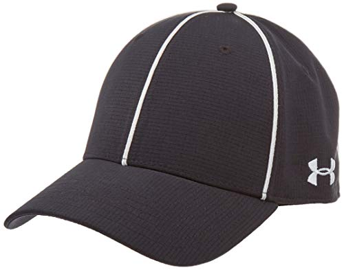 Under Armour Men's Referee Cap, Black (001)/White, Medium/Large