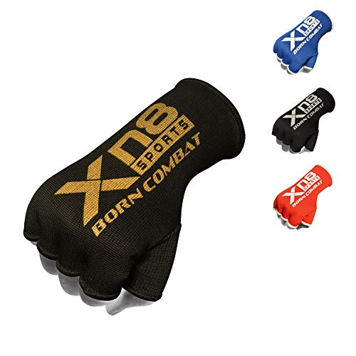 XN8 Boxing Hand Wraps Inner Gloves - Esticated Bandages Under Mitts, Wrist Support, Fist Protector - Great for MMA-Muay Thai-Kickboxing Martial Arts Training