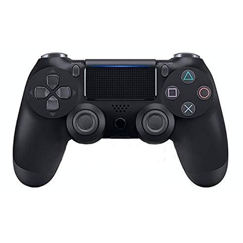 TOPmontain Controlador sem fio para PS4, controlador de jogo para Playstation 4 / Pro/Slim, joystick de gamepad com vibração dupla/giroscópio de seis eixos/conector de áudio/alto-falante,Preto