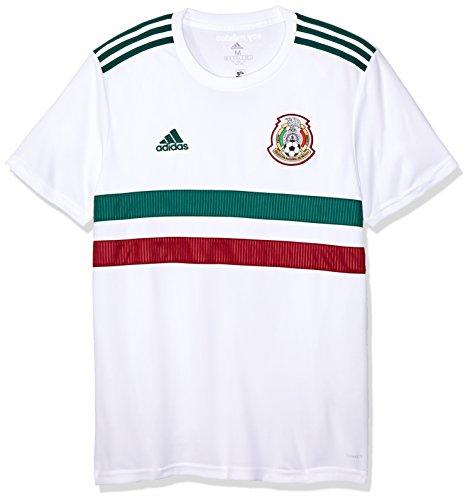 adidas Herren Mexiko Replica Auswärtstrikot, White/Cgreen/Cburgu, 3XL