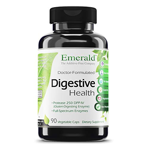 Emerald Labs Digestive Health - Raw Whole-Food Based Formula with Probiotics and Enzymes to Support Relief of Stomach Gas, Bloating, and Constipation - 90 Vegetable Capsules