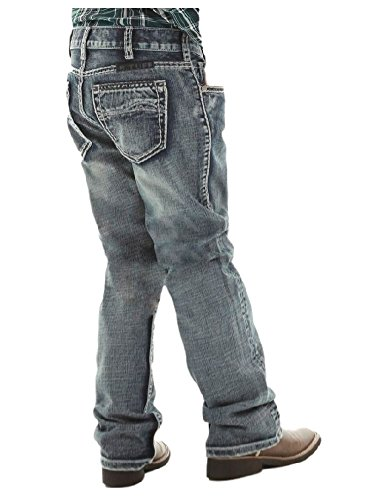 B. Tuff Western Denim Jeans Boys Steel Bootcut 10 Reg Med Wash BJSTEK