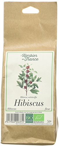 L'herbier de France Hibiscus Fleurs Bio Sachet Kraft 50 g