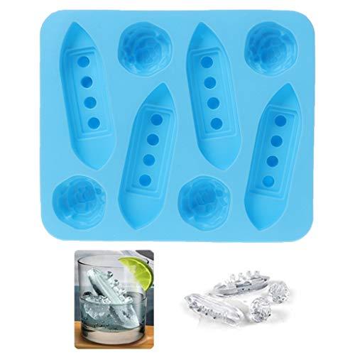dedepeng stampo per cubetti di ghiaccio frigorifero con congelatore in silicone a forma di cubo, produttore Titanic Shaped per feste Drinks cubetti di ghiaccio