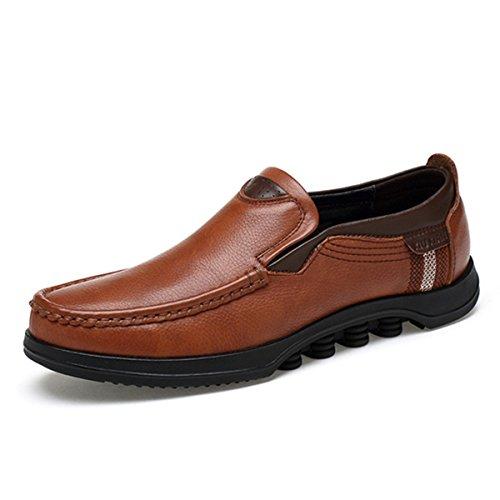 Gracosy Mocasines para Hombre Zapatos de Cuero Casual de los Hombres Zapatos Planos Mocasines Zapatos de Negocios Mocasines de conducción de Zapatos