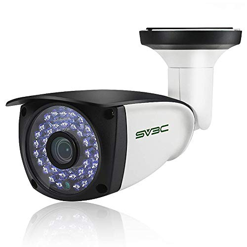 5MP POE IP Camera(No WIFI), SV3C Super HD Security Onvif Camera for Max 128G SD Card Recording, Two Way Audio Camera Outdoor, IP66 Waterproof, Human Motion Detection Alarm Cam, 36 IR LEDs Night Vision
