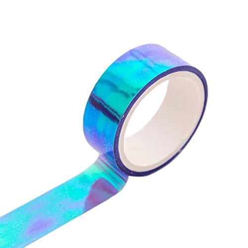 CNmuca Filme arco-íris criativo fita laser fita de papel artesanal para scrapbooking decorativo planejador fita adesiva de mão roxa