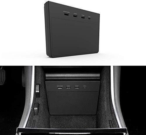 TAPTES USB Hub für Tesla Model 3, Dashcam und Sentry Mode Viewer USB für Tesla Model 3 vor Juni 2020, Designed Tesla Model 3 Zubehör mit 5 IN 1 Ports,Tesla Model 3 (Vor Juni 2020 produzieren.)