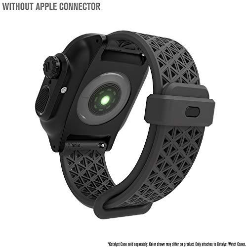 Catalyst - für Apple Watch-Gehäuse, Sportarmband für Apple Watch 38 mm, 40 mm, hypoallergen, atmungsaktiv, Armband Ersatzarmband ohne Anschlüsse für Serie 5/4/3/2/1 - Grau