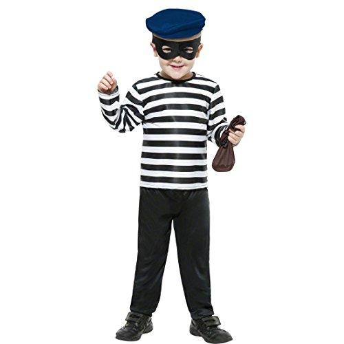 Traje de ladrón para niño disfraz delincuente banco robo: Amazon ...