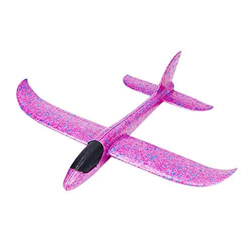 2 stuks piepschuimvlieger vliegtuig, kinderen vliegtuig speelgoed outdoor werp zeilvliegtuig werpen vliegen model voor kinderen kinderverjaardag rood