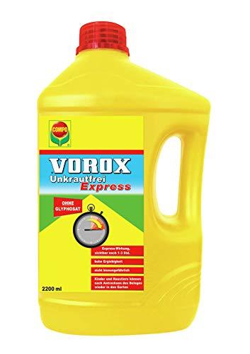 VOROX Unkrautfrei Express, Bekämpfung von Unkräutern an Zierpflanzen, Obst und Gemüse, Konzentrat, 2,2 Liter