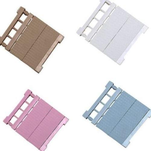 Mensola regolabile, ripiano separatore modulare stratificato, per armadi, frigoriferi, credenze, cucine e bagni, colore casuale, (38-55)x35cm