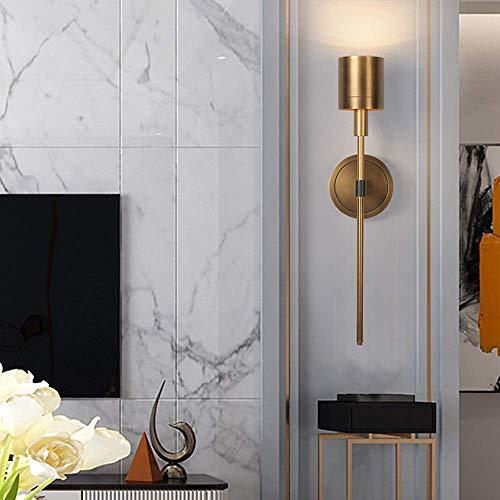 NBVCX Mekaniska delar helt i koppar lampa vardagsrum sovrum tvättstuga dekoration villa modell rum vägglampor 12 x 16 x 51 cm hög knapp