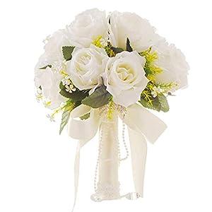 Silk Flower Arrangements NW 1776 White Artificial Flowers Artificial Flowers Wedding Bride Holding Flowers Creative Western-Style Wedding Supplies Wedding Bouquets Corsage Wrist Flower