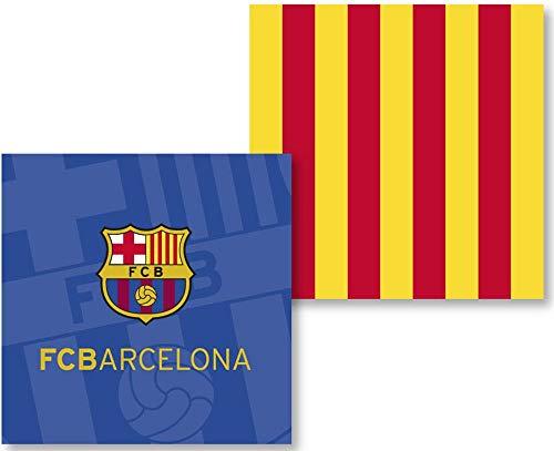 Funda Cojín FC Barcelona FUTC03 (50x50 Sín Relleno)