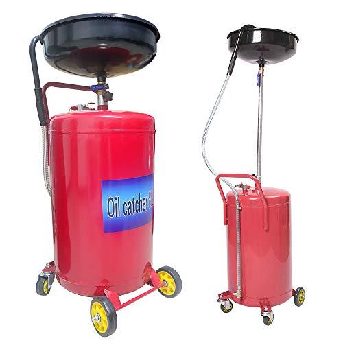 UISEBRT 80L Ölauffangbehälter KFZ - Ölauffangwagen Ölablassgerät Altöl Ölauffangwanne Pneumatisch