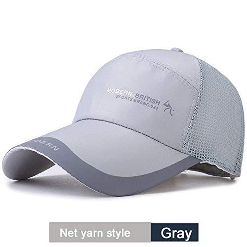 Golfpetten voor heren Outdoor-zonnescherm Cap Sport Baseballhoeden Poncho's Zonbescherming Hoed, grijs netgaren