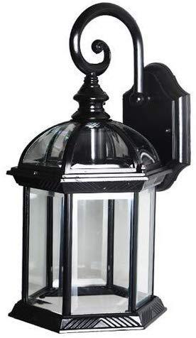 Wandlamp lantaarn, rustiek, wandlamp in vintage-stijl, industrieel design, restaurant, slaapkamer, nachtkastje, hal (kleur: zwart)