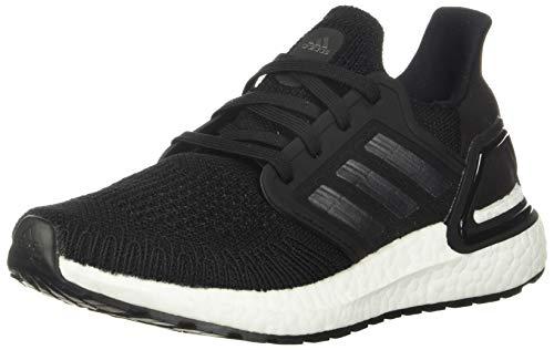 adidas Women's Ultraboost 20 Running Shoe, Black/Night Metallic/White, 8 M US