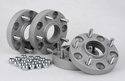 Separadores de ruedas de aluminio, 4 unidades (20/30 mm por disco, 40/60 mm por eje), incluye certificado TÜV