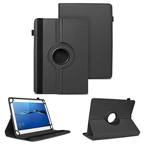 NAUC Tablet Tasche kompatibel für Huawei Mediapad X2 Hülle Schutzhülle Cover Schutz Hülle Drehbar, Farben:Schwarz