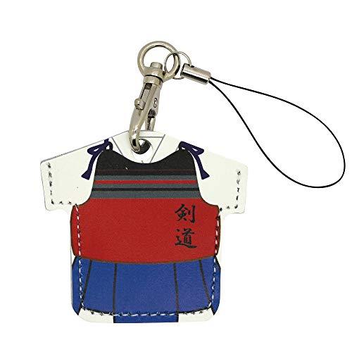 ユニフォーム型 コインケース コイン型edy 牛革 日本製 ストラップ ランドセル にも付けられる 500円硬貨 シールキー アクセサリー 剣道