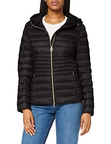 Geox Womens W JAYSEN Quilted Jacket, Black, 34 (Herstellergröße:40)
