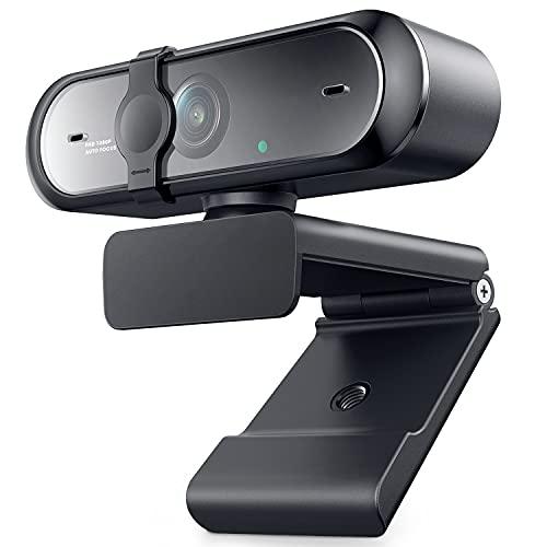 Webcam 1080P HD con microfono, webcam con messa a fuoco automatica e copertura privacy Plug and Play per Mac Windows PC videochiamata, trasmissione di giochi, conferenza