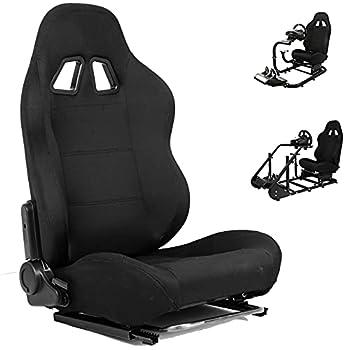 Minneer Racing Bucket Seat with Adjustable Slide Fit Racing Wheel Stand All Metal Parts  Racing Wheel Stand Not Include