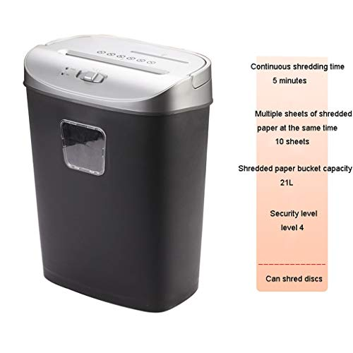 Read About TUCY Portable Paper Shredder, Office Mini Shredder, Household Electric File Shredder, Dec...