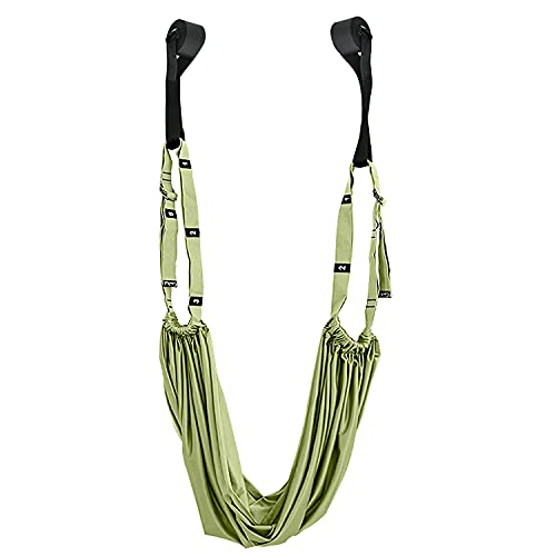 Verpiason Yoga Strap Waist Stretch Strap with Door Anchor,Adjustable Yoga Fitness Band Exercise Strap Leg Stretching Strap Back Bend Split Inversion (Green)