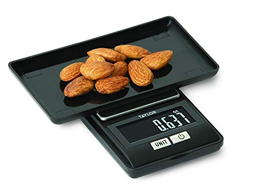 Taylor 1250BKT Precision Diet Digital Scale, 5-6.99 inches, Black